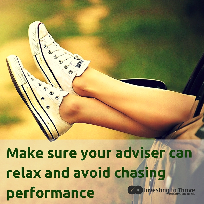 Of all the problems I've had with financial advisers, the recommendation for chasing performance was the weirdest. Learn what happened and how I resisted.