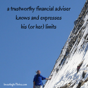 InvestingtoThrive.com financial adviser limits
