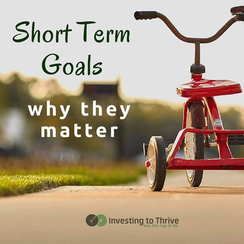 Achieving short term goals can prepare you for long term goals. Don't worry if you can't envision your life at 75; focus on small gains now.
