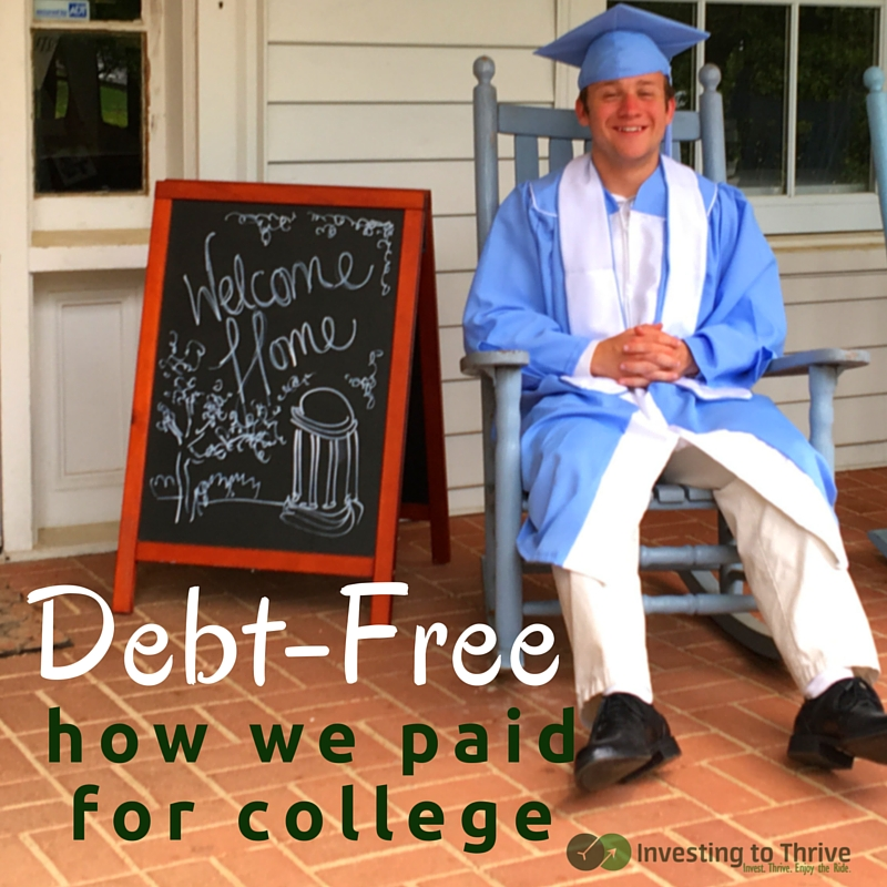 My son graduated debt-free from college. Here's how we (as a family) paid college bills without loans.