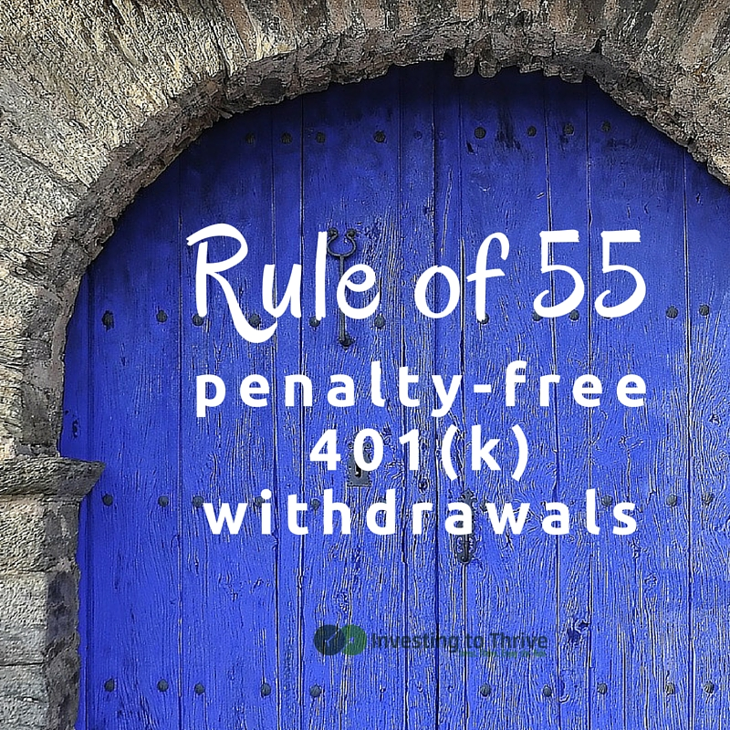 The Rule of 55 (years) allows you to take a 401(k) withdrawal before you turn 59.5 without penalty -- if certain requirements are met.