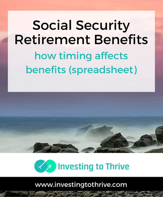 When to Take Social Security Retirement Benefits (Spreadsheet)