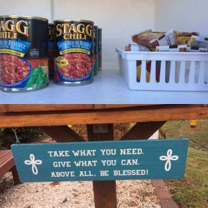 blessing box with food
